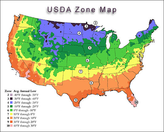 Usda plant hardiness zones usda hardiness zone map publicscrutiny Gallery
