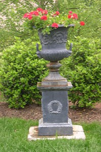 black-urn-planter