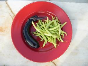 Eggplant Waxbeans