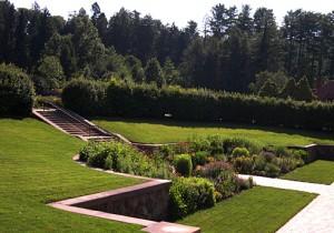 a sunken garden all