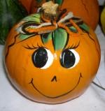 a painted pumpkin