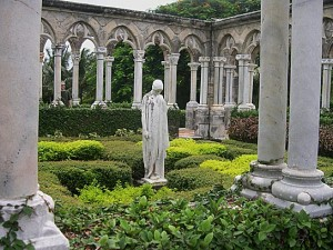 a statue in cloister