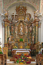 Erntedankfest St_Johann_Baptist,_Bergkirchen,_Altar 2