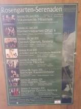 Bamberg rose garden concert flyer
