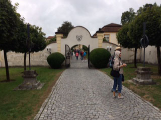 Melk gate to courtyard