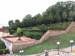 Melk terrace walls