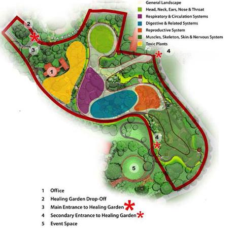 Healing Garden map